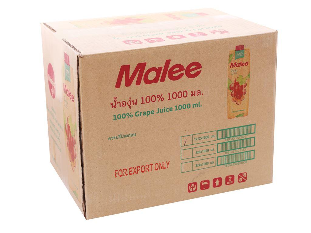 12 hộp nước ép nho Malee 1 lít 1