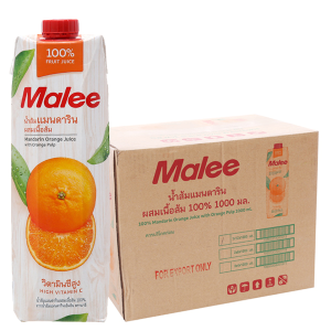 12 hộp nước ép quýt Malee 1 lít