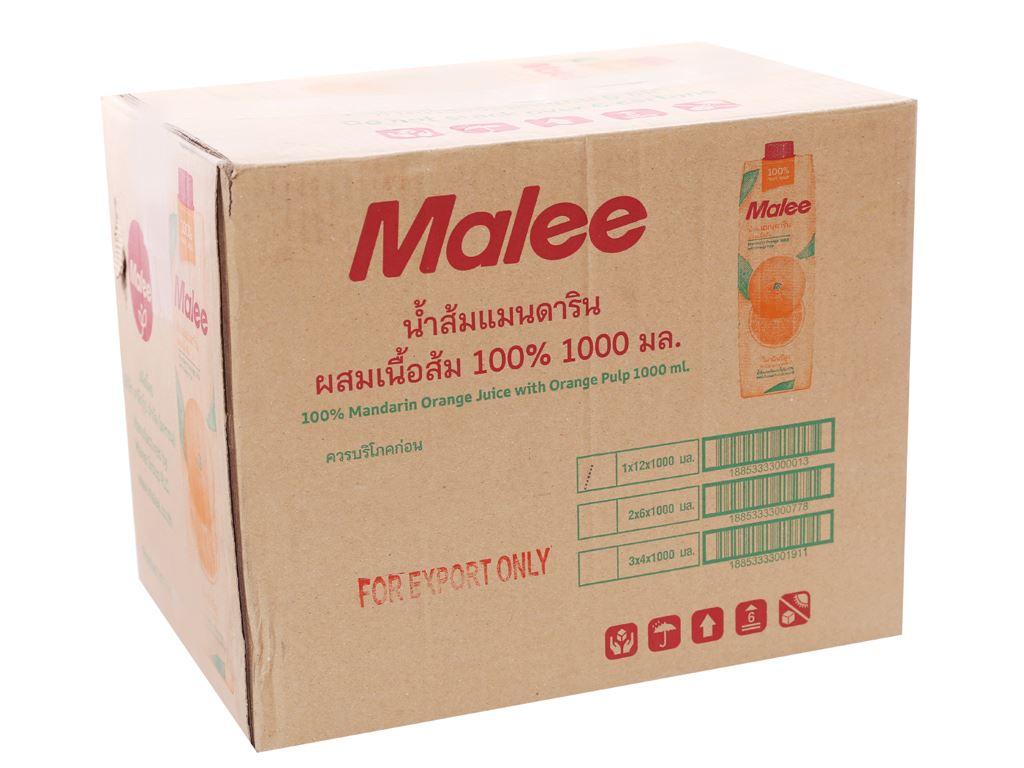 12 hộp nước ép quýt Malee 1 lít 1