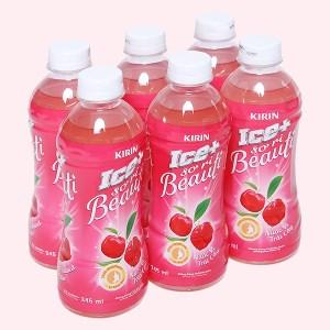 6 chai nước trái cây Ice+ vị sơ ri 345ml