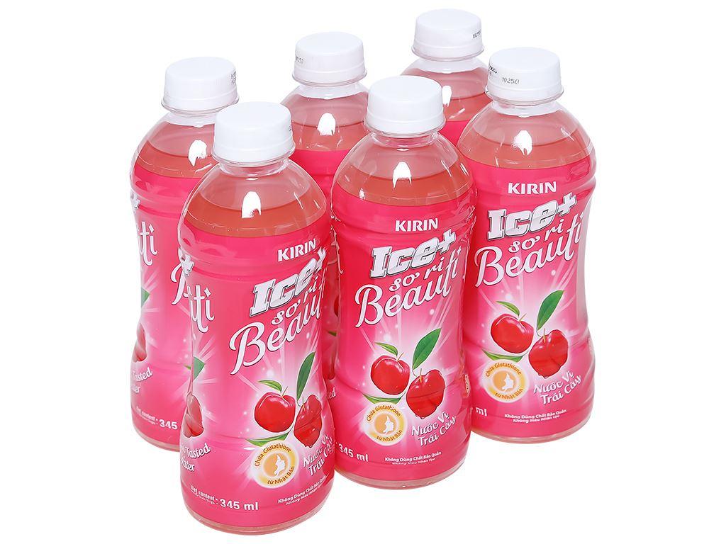 6 chai nước trái cây Ice+ vị sơ ri 345ml 1