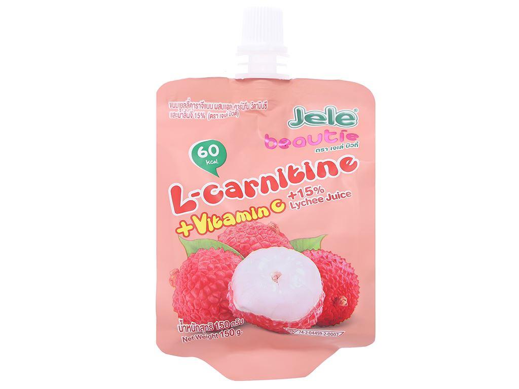 Nước ép trái cây Jele L-carnitine vị vải 150g 1