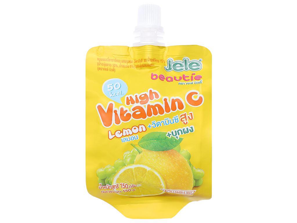Nước ép trái cây thạch Jele High Vitamin C chanh tươi 150g 1