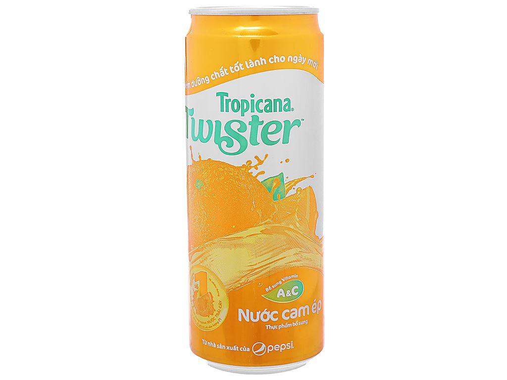 6 lon nước cam ép Twister Tropicana 320ml 2