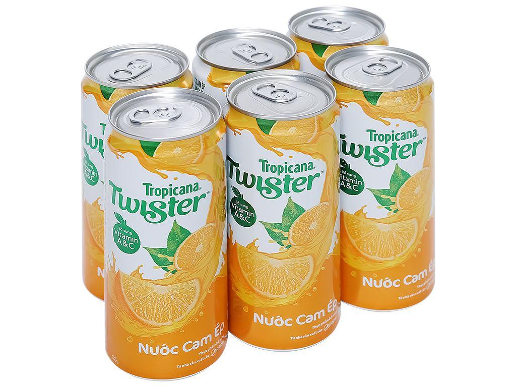 6 lon nước cam ép Twister Tropicana 320ml 1