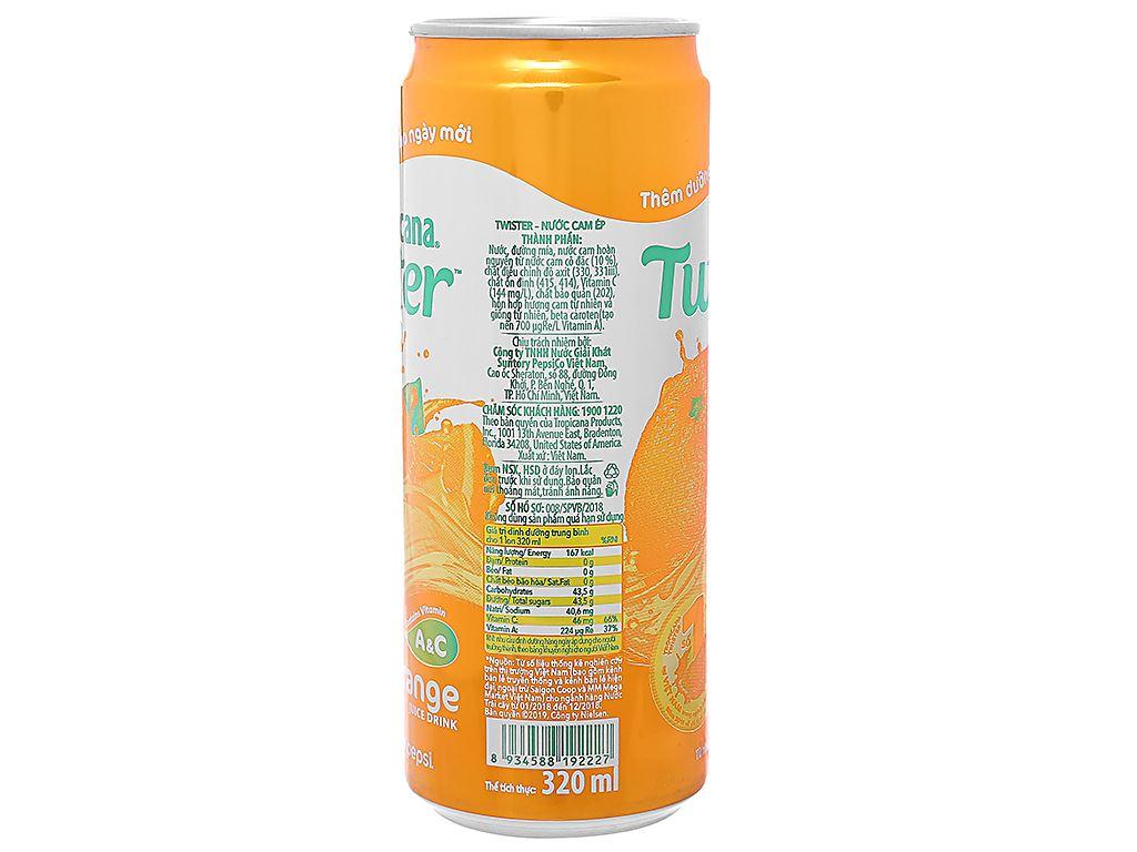 24 lon nước cam ép Twister Tropicana 320ml 3