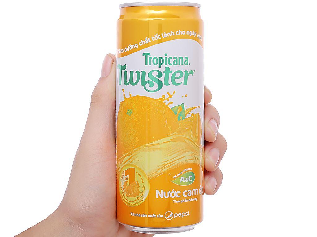 24 lon nước cam ép Twister Tropicana 320ml 4
