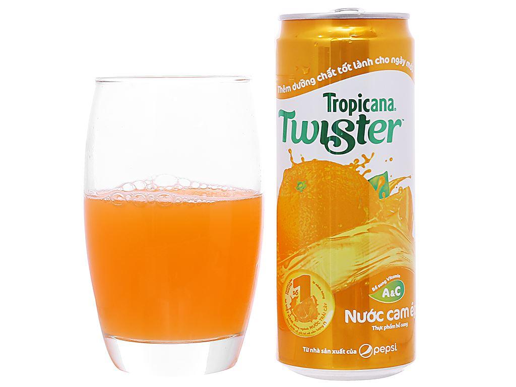 24 lon nước cam ép Twister Tropicana 320ml 5