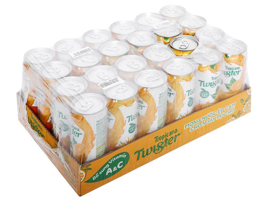 24 lon nước cam ép Twister Tropicana 320ml 1