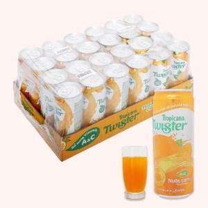 24 lon nước cam ép Twister Tropicana 320ml