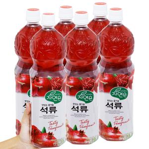 6 chai nước ép lựu Woongjin 1.5L