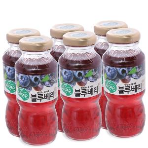 6 chai nước ép việt quất Woongjin 180ml