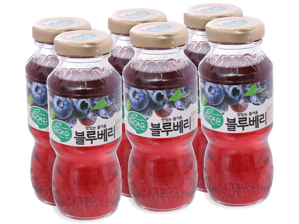 6 chai nước ép việt quất Woongjin 180ml 1