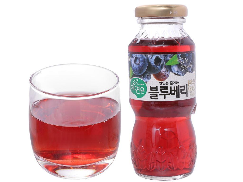 6 chai nước ép việt quất Woongjin 180ml 4
