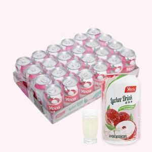 24 lon nước trái vải Yeo's 300ml