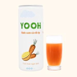 Nước ép cam và cà rốt Yooh 240ml