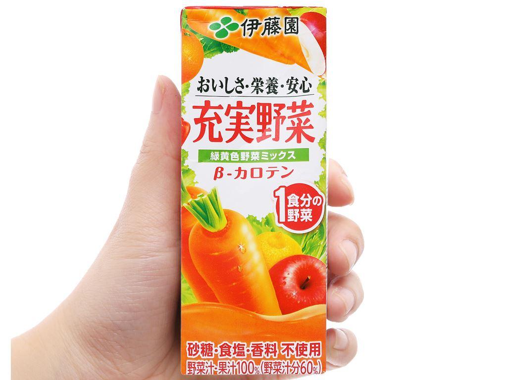 Nước ép rau củ & trái cây hỗn hợp ITOEN Jujitsu Yasai 200ml 6