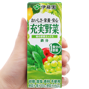 Nước ép rau củ & trái cây hỗn hợp ITOEN Midori Yasai 200ml