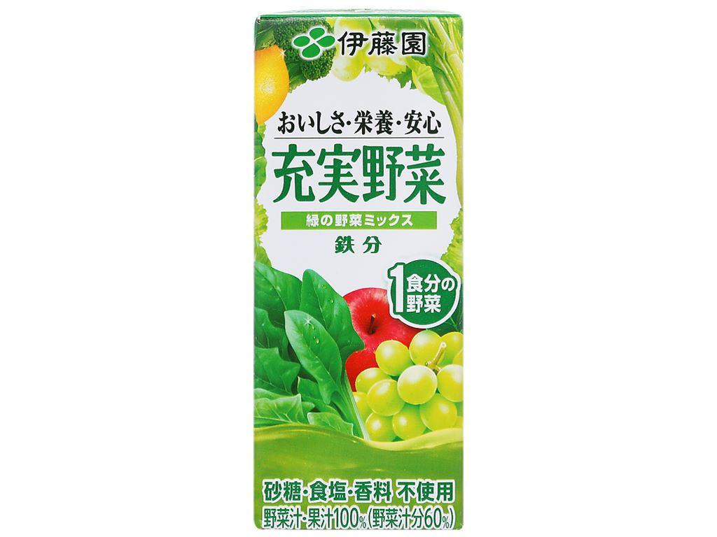 Nước ép rau củ & trái cây ITOEN Midori Yasai 200ml 1