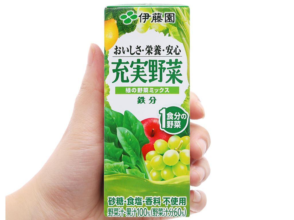 Nước ép rau củ & trái cây ITOEN Midori Yasai 200ml 6