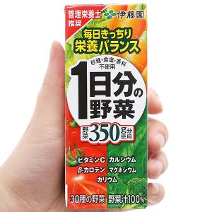 Nước ép rau củ hỗn hợp ITOEN Ichinichibun No Yasai 200ml