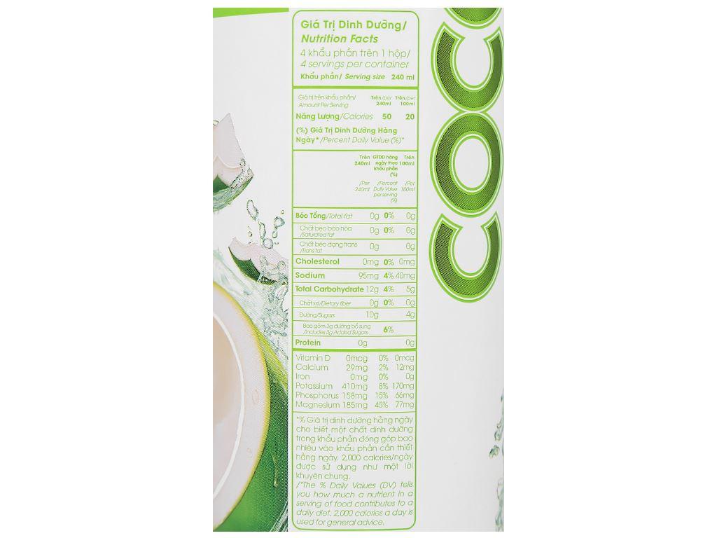 Nước dừa xiêm xanh Cocoxim 1 lít 6