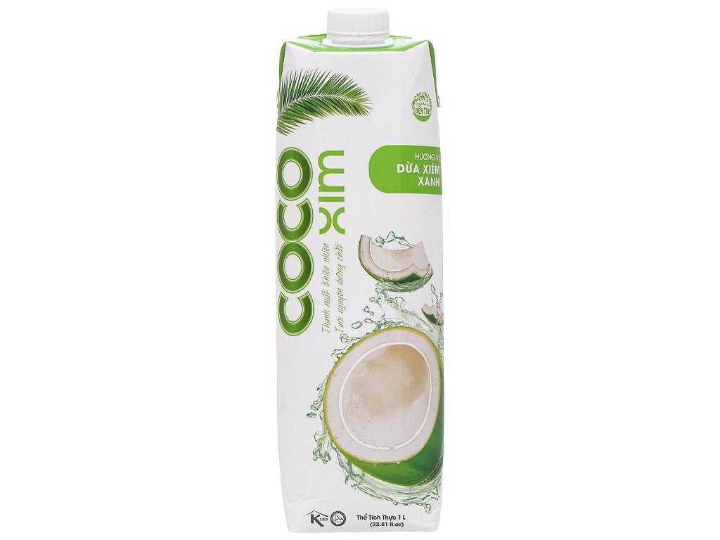 Nước dừa xiêm xanh Cocoxim 1 lít 1