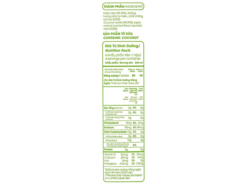 Nước dừa xiêm xanh Cocoxim 1 lít 5
