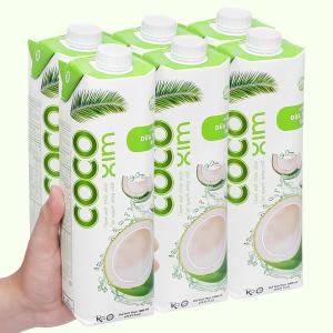 6 hộp nước dừa xiêm xanh Cocoxim 1 lít