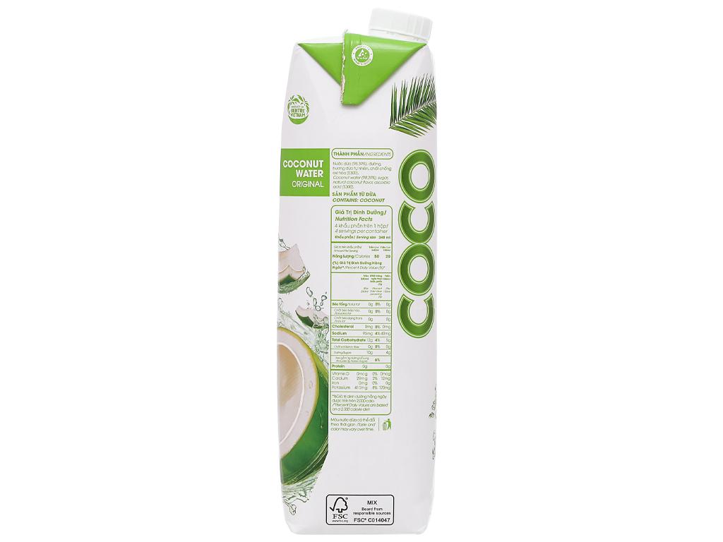 6 hộp nước dừa xiêm xanh Cocoxim 1 lít 5