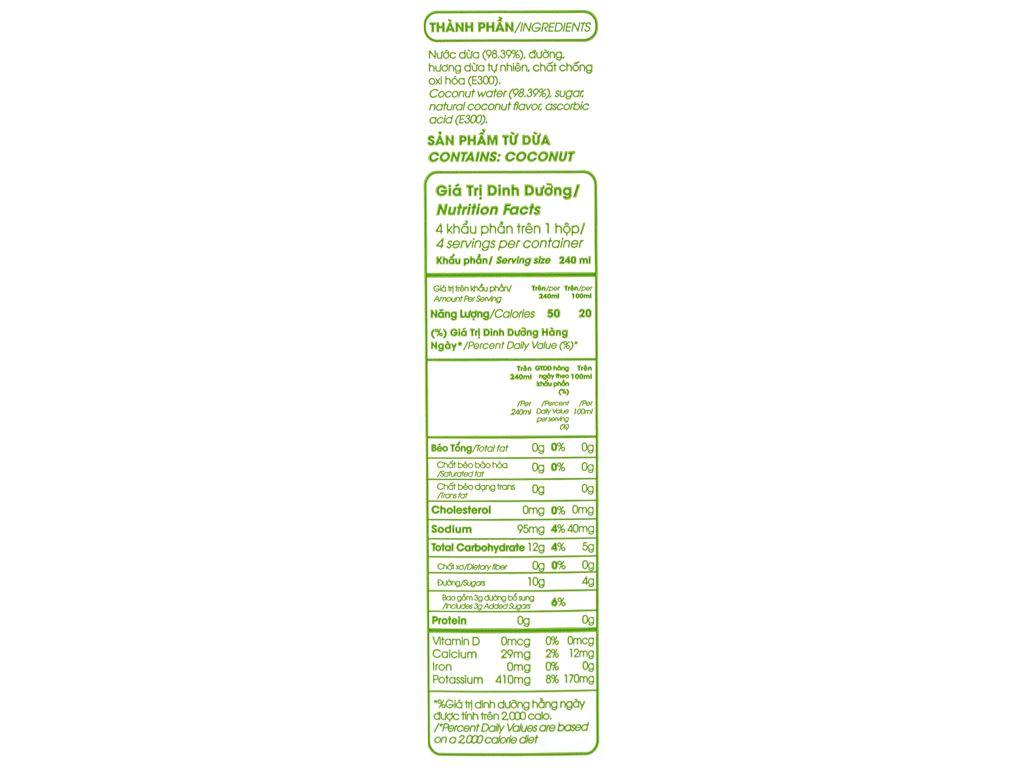 6 hộp nước dừa xiêm xanh Cocoxim 1 lít 6