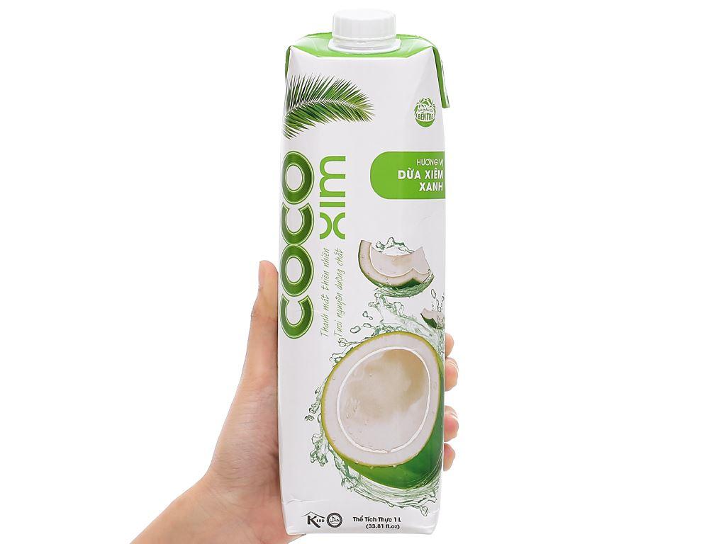 6 hộp nước dừa xiêm xanh Cocoxim 1 lít 8