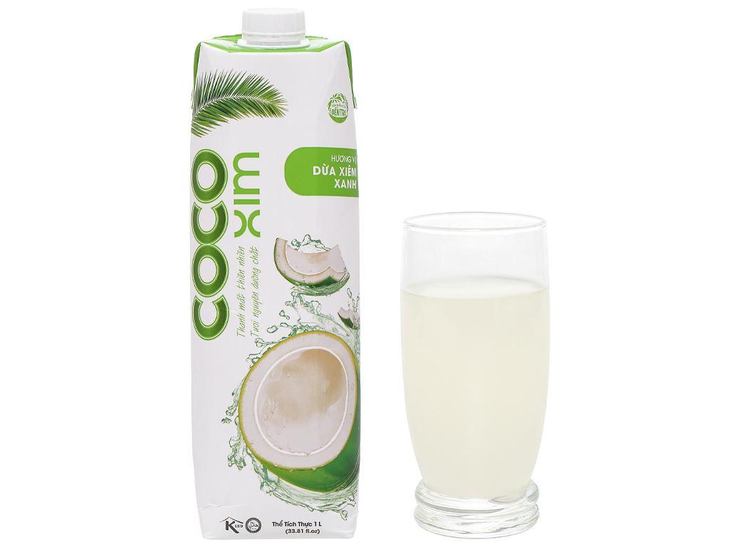 6 hộp nước dừa xiêm xanh Cocoxim 1 lít 9