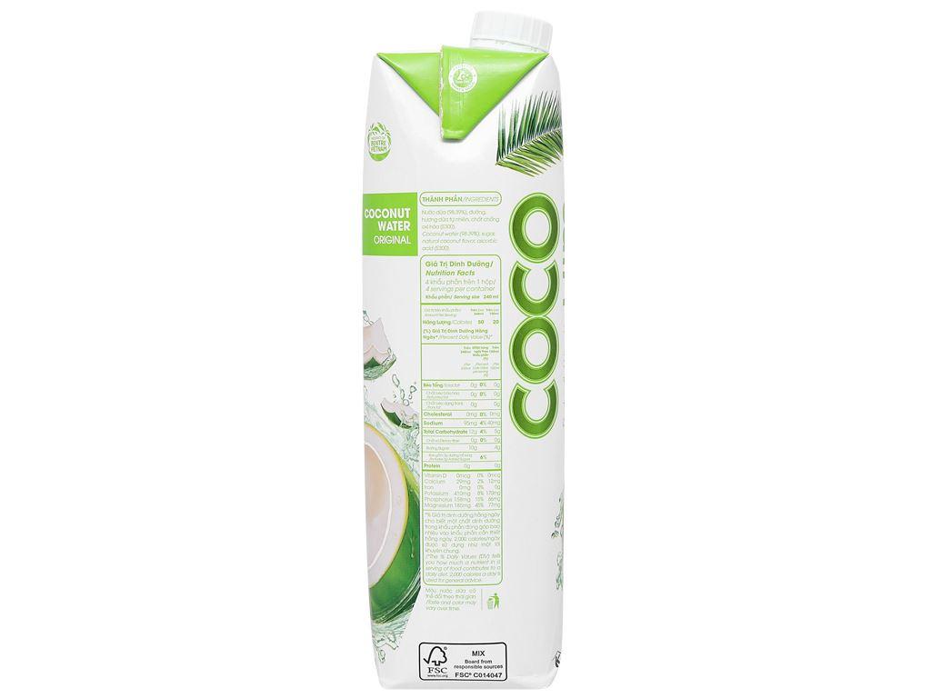 Thùng 12 hộp nước dừa xiêm xanh Cocoxim 1 lít 10