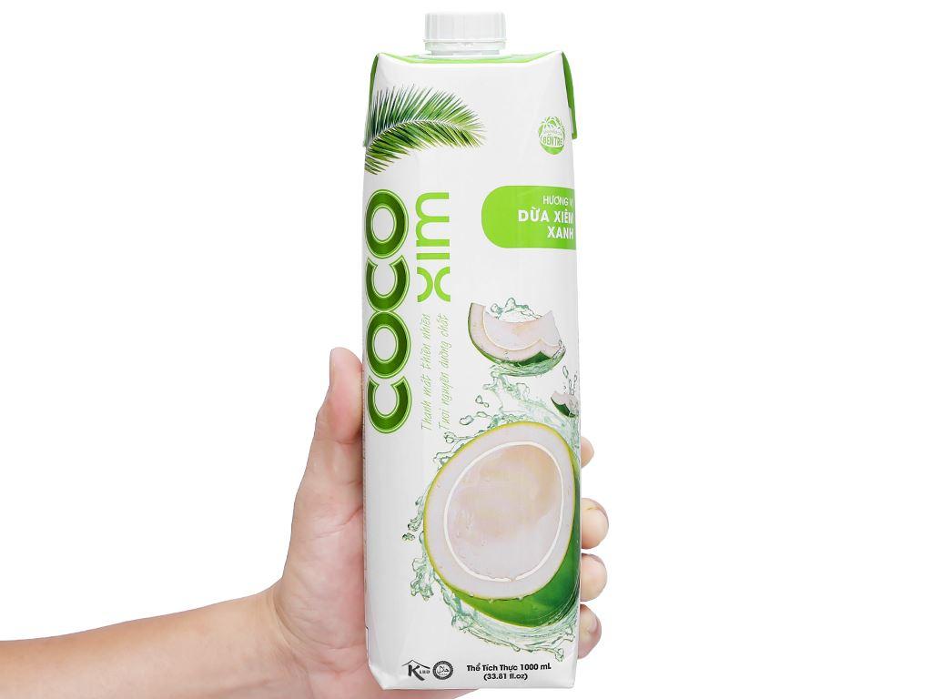 Thùng 12 hộp nước dừa xiêm xanh Cocoxim 1 lít 8