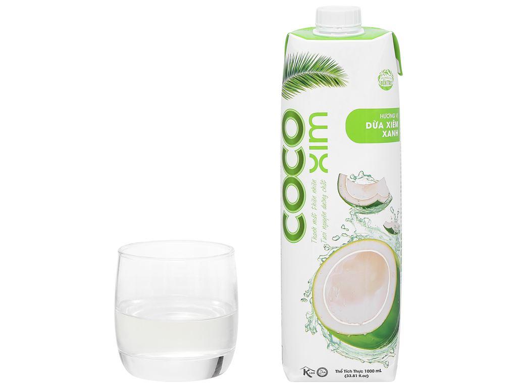 Thùng 12 hộp nước dừa xiêm xanh Cocoxim 1 lít 9