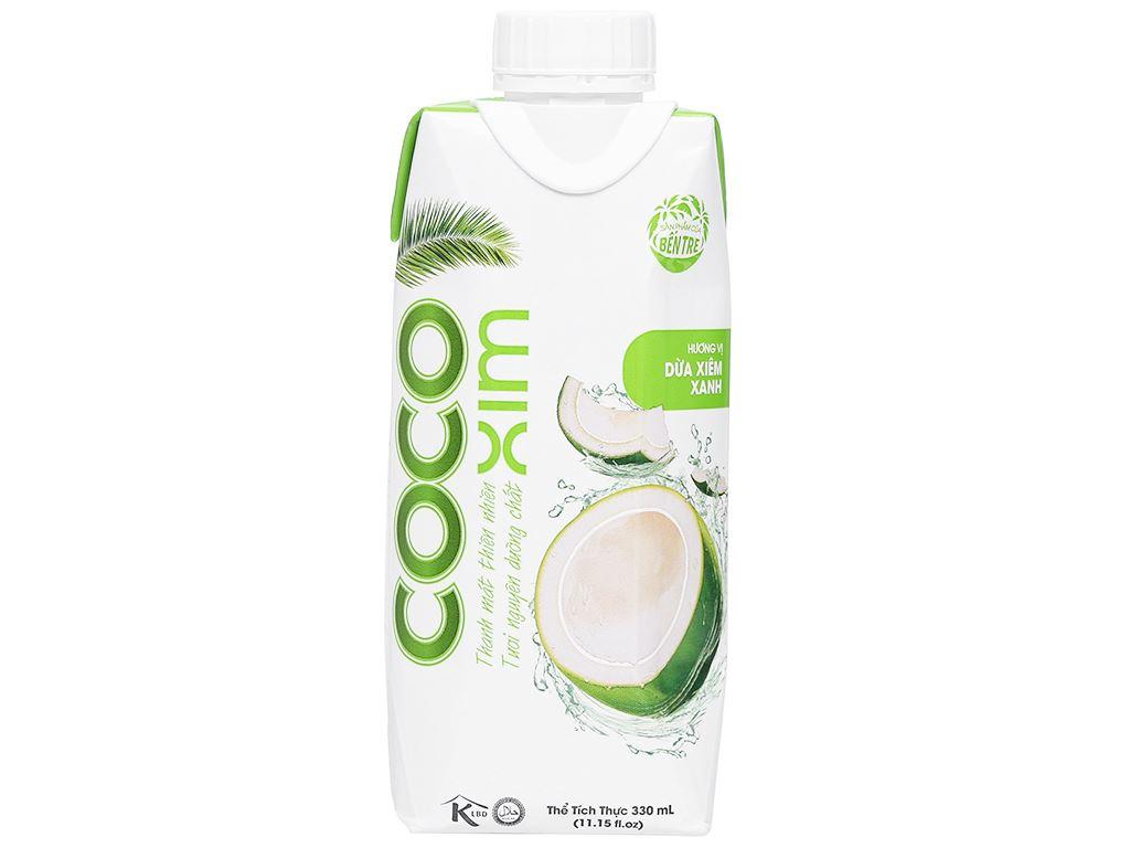 6 hộp nước dừa xiêm xanh Cocoxim 330ml 2