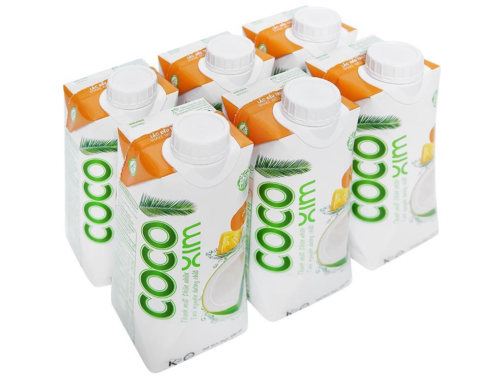 6 hộp nước dừa xiêm và dứa Cocoxim 330ml 1