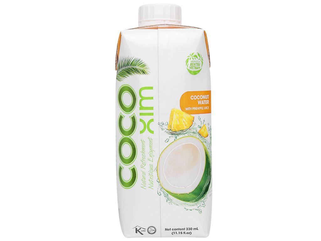 6 hộp nước dừa xiêm và dứa Cocoxim 330ml 2