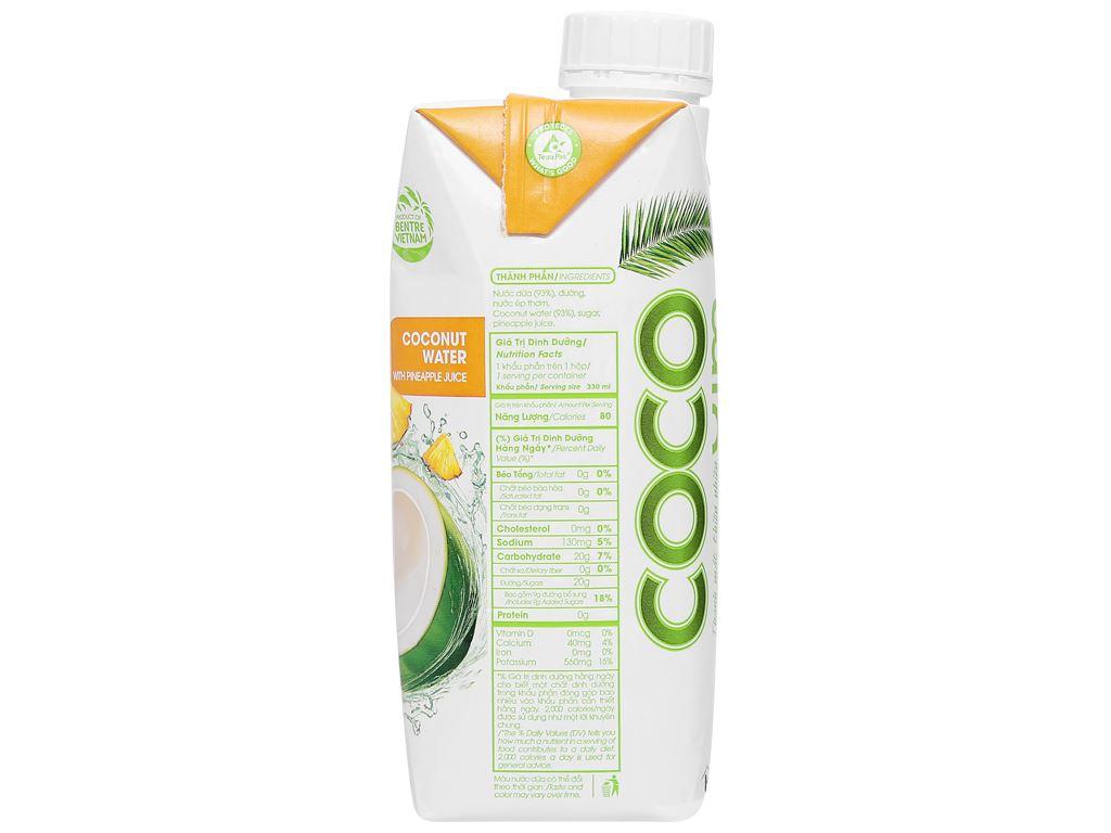 6 hộp nước dừa xiêm và dứa Cocoxim 330ml 3