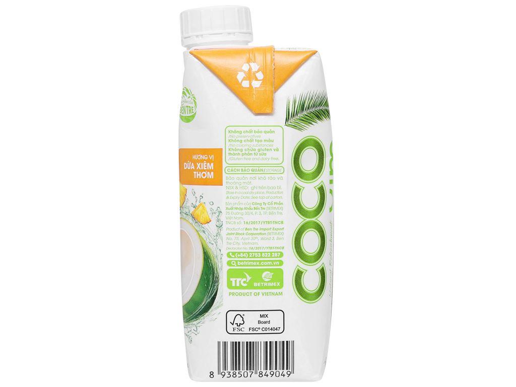6 hộp nước dừa xiêm và dứa Cocoxim 330ml 10
