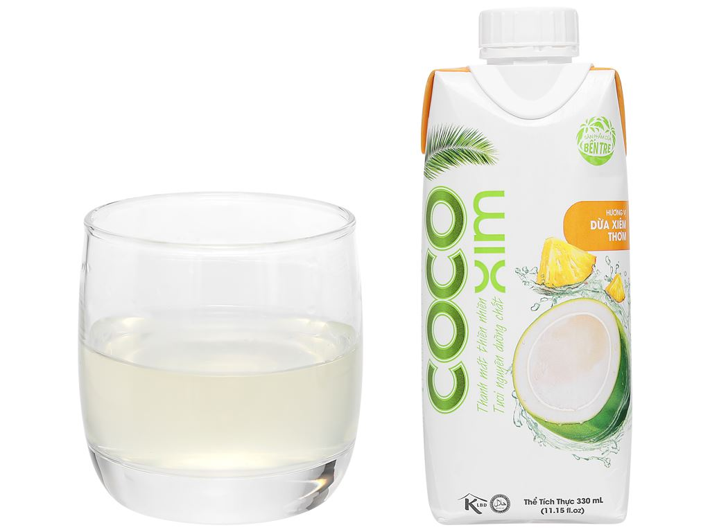 6 hộp nước dừa xiêm và dứa Cocoxim 330ml 8