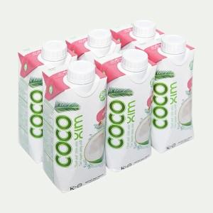 6 hộp nước dừa xiêm sen Cocoxim 330ml