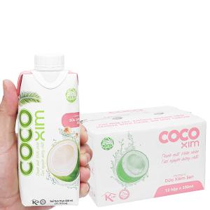 Thùng 12 hộp nước dừa xiêm sen Cocoxim 330ml