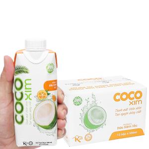 Thùng 12 hộp nước dừa tắc Cocoxim 330ml