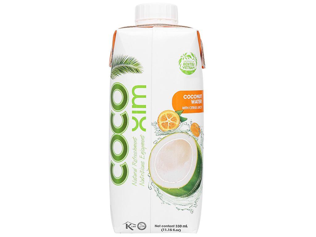 Thùng 12 hộp nước dừa xiêm và tắc Cocoxim 330ml 3