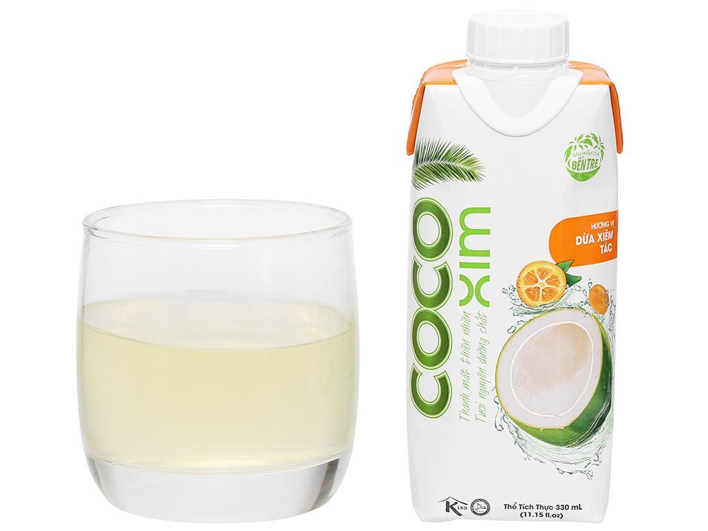 Thùng 12 hộp nước dừa xiêm và tắc Cocoxim 330ml 9