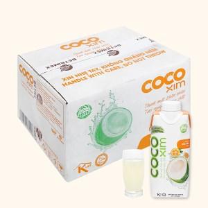 Thùng 12 hộp nước dừa xiêm và tắc Cocoxim 330ml
