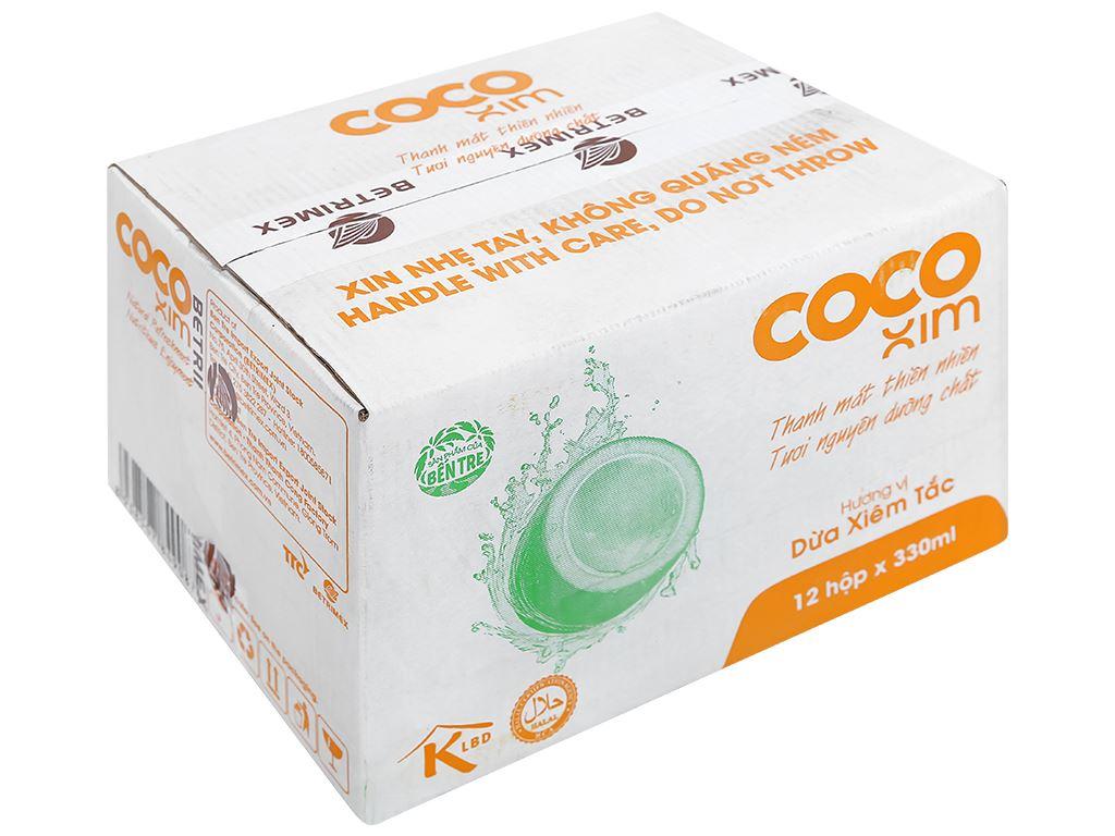 Thùng 12 hộp nước dừa xiêm và tắc Cocoxim 330ml 1