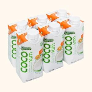 6 hộp nước dừa xiêm và tắc Cocoxim 330ml